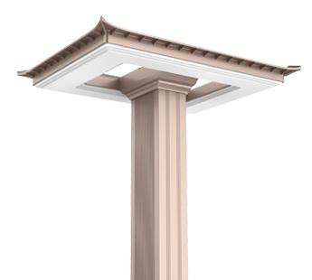 四合院LED户外庭院灯设计
